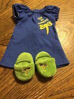 American Girl Lanie Nightgown & Slippers EUC No Orangutan RETIRED