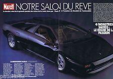 COUPURE DE PRESSE CLIPPING 1990 Notre Salon de Rêve Lamborghini Diablo (6 pages)
