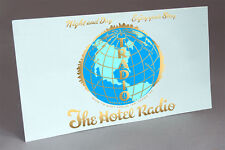 TRADIO HOTEL RADIO COIN OPERATED TUBE RADIO WATER SLIDE DECAL LIGHT BLUE1