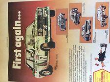 m3e ephemera 1982 advert folded fiat 131 revell alitalia humbrol