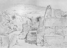 SHECHEM. Apse of 4th-century Church over Jacob's well at(Nablus) 1902 print
