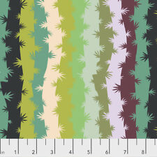 Grassy Mirage Ziggy Stripes Free Spirit Cotton Quilt Fabric PWMO026 VibrantGreen