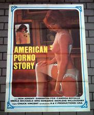 AMERICAN PORNO STORY manifesto poster affiche Samantha Fox Lingerie Sexy Erotico