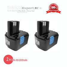 2x 14.4V 3000mAh 3.0AH NiMH Power Tool Battery for Hitachi EB1412S EB1414S EB14B