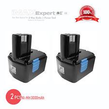 2x 14.4V 3000mAh 3.0AH NiMH Power Tool Battery for Hitachi EB1412S EB1414S EB14B