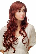 Women's Wig Wig Red Brown Curls Wavy Lang Side Part Approx. 27 5/8in 9204s-131