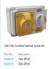 ESR IP44 industriale commutata interlocked PRESA A 110V GIALLO 16A bs4343 si16314