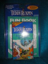 THE NEW WORLD OF TEDDY RUXPIN VIDEO TAPE VCR GUESTS OF THE GRUNGES FUN BOOK 1998