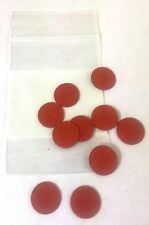 "(10) .031"" THICK RED FIBRE POOL CUE TIP PADS - PADS BETWEEN TIPS AND FERRULES"