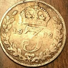 1902 UK GREAT BRITAIN SILVER THREEPENCE