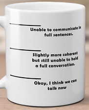 """Unique & Funny """"Unable to Communicate"""" Mug/Coffee Cup ~ Great Gift!"""