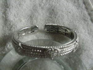 "Judith Ripka Sterling .925 Cuff Bracelet heart shaped hinged Diamonique 6 1/2"""