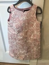 3ede2ccf701a5 Victoria Beckham Target Toddler Girls  Blush Floral Jacquard Shift Dress  Size 5t