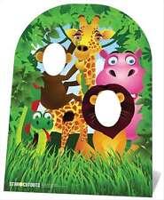 GIUNGLA amici Bambino Dimensioni Cartone stand-in ritaglio Standup esotiche animali PARTY