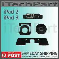 Black Home Button Click Inner 4 Set Replacement Part For iPad 2 iPad 3