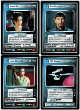 STAR TREK CCG 1E : MIRROR MIRROR COMPLETE 131 CARD SET W/ UR FIRST OFFICER SPOCK