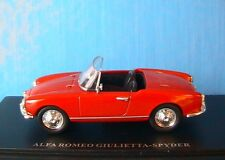 ALFA ROMEO GIULIETTA SPIDER ROUGE UNIVERSAL HOBBIES 1/43 CABRIOLET VELOCE ROSSO