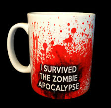 NEW I SURVIVED THE ZOMBIE APOCALYPSE MUG CUP GIFT UNDEAD SURVIVAL LOVER FAN KILL