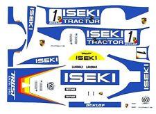 #1 ISEKI Tractor 956/962 PORSCHE 1/64th HO Scale Slot Car Decals