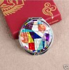 Mother of Pearl Make-up Compact Mirror - Patchworked Small Size