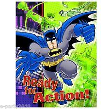 BATMAN Brave and the Bold INVITATIONS (8) ~ Superhero Birthday Party Supplies