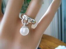 Tiffany & Co. Fascination Rock Crystal Dangle Bead Ring