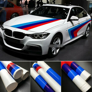 A Set M Power Color Racing Decals Car Body Front Bonnet Hoods Stickers For BMW