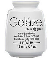 Gelaze China Glaze Color Gel-n-Base Gel Polish 81614 - WHITE ON WHITE New 14ml