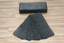 14 Carpet Stair Case Treads Majestic Black Saxony 660 Large Pads!