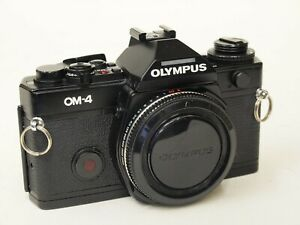 Olympus OM-4 35mm SLR Camera Body in Black. Stock Number u11280