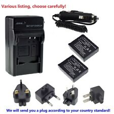 CGA-S007 Battery or charger For Panasonic LUMIX DMC TZ1BS TZ5 TZ50-S DMC-TZ4K
