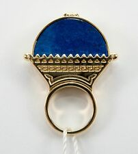 VERSACE Gold plated Lapis Medusa Ring size 13 / 6 3/4  $450
