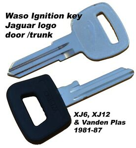Jaguar key blank set 1981-87 XJ6, XJ12, Vanden Plas ignition, door & trunk