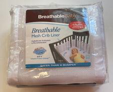 breathable baby mesh crib liner bumper