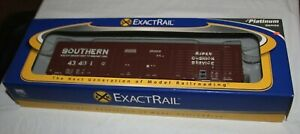 HO EXACTRAIL EP-80605-1 - SOUTHERN PS 60 WAFFLE SIDE BOX CAR #43401 NEW
