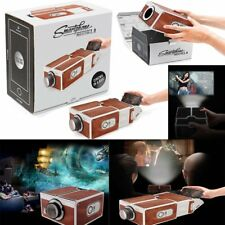 DIY Smart Phone Mini Portable Cardboard Projector Cellphone Home Cinema Theater