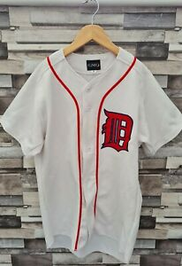 IGNIO NO 6 MENS WHITE ATHLETIC SPORTS BUTTON UP JAPANESE BASEBALL JERSEY UK S/M