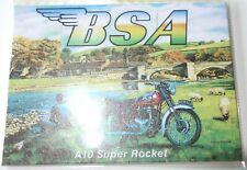 """BSA A10 SUPER ROCKET MOTORBIKE JUMBO FRIDGE MAGNET 2 1/2"""" X 3 1/2"""" F.U.M. TOOLS"""