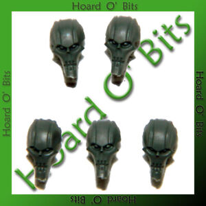 WARHAMMER 40K BIN BITS NECRON IMMORTALS - 5x HEADS