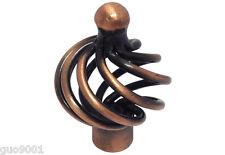 30 Antique Copper Birdcage Kitchen Cabinet knobs 1317-35