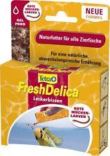 Tetra FreshDelica Bloodworms 48 gr. rote Mückenlarven in Gelee, der Leckerbissen