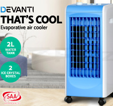 70W Air Cooler Portable Fan Humidifier Conditioner Cooling Ice crystals 2L water