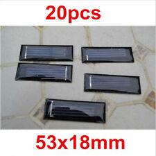 20X0.5V 100mAh 53X18mm Micro Mini Power Small Solar Cell For DIY Panel Light