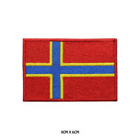 ORKNEY County Flag Embroidered Patch Iron on Sew On Badge For Clothes Etc