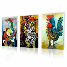 Marie Therese Rooster Weeping by Pablo Picasso | Canvas (Rolled) | Set Of 3 Wall