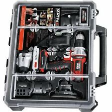 Black Decker Tool Kit Powerful DIY Drill Sander Jigsaw Driver Router Combo Case