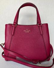 New Kate Spade Jackson Medium Triple compartment Satchel Leather Cranberry