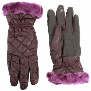 Ugg Women's Slim Fit Aster Quilted Smart Winter Gloves Sz: L/XL