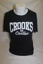 Crooks & Castles Big Logo Men's Black T Shirt Size Medium