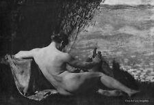 "Frank Eugene photo  ""Nude Man with Harp""  1900s"
